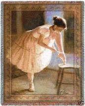 70x54 BALLERINA Ballet Dancer Tapestry Throw Blanket - $60.00