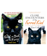 Lot of 2 Tom Cox CAT Books : Good, the Bad, and the Furry -and- Close En... - $18.95