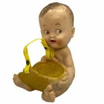 1956 Bonnytex Rubber Baby Squeak Toy Holding Basket/Bottle Holder - $24.00