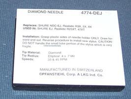 STYLUS NEEDLE for Shure NDC-EJ Realistic R3X 5X 6X 8X fits R25XT 47XT 4774-DEJ image 2