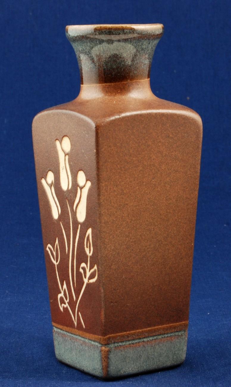 "Art Pottery PIC USA 6.5"" Brown Vase California Studio"
