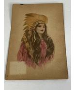 Beautiful 1910 Native American Woman In Headpiece H.A.Co.N.Y. Original P... - $12.00