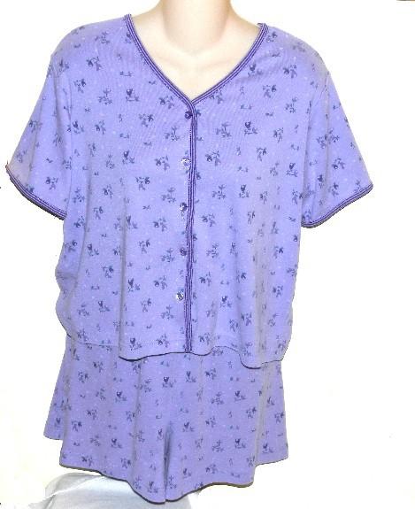 Im b14 lavendar shortie pajama