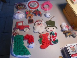Priority Box Full of Christmas Ornaments and Figures Handmade and more! - $9.90
