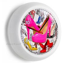 Hot Pink Sexy High Heel Shoes Fashion New Wall Clock Beauty Salon Boutique Decor - $21.05