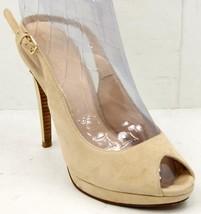 Cole Haan Air Chelsea OT HI Slingback Beige Suede Women's Sandals 8.5 M Shoes - $55.57