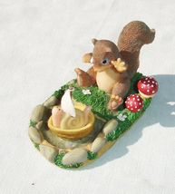 Charming Tails - I Miss You Already.. Squirrel and Snail Figurine  Char... - $9.99