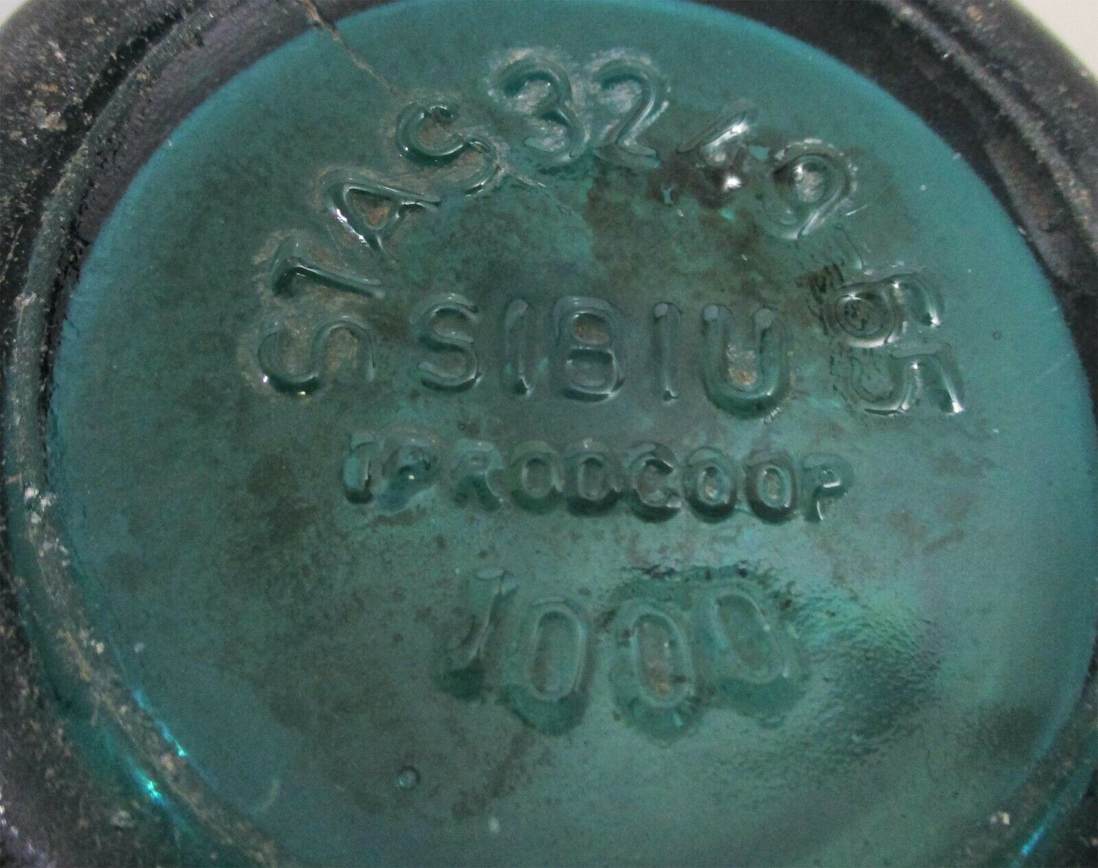 Blue/Green Seltzer Bottle Etched Coca-Cola Bottling Glass Circa 1940's image 4