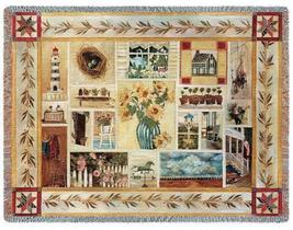 70x53 AMERICANA Country TAPESTRY Afghan Throw Blanket  - $60.00