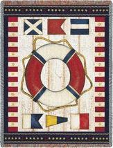 54x70 Nautical Flag Sea Beach Afghan Throw Blanket  - $60.00