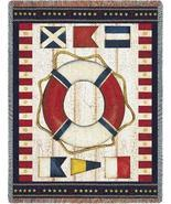 54x70 Nautical Flag Sea Beach Afghan Throw Blanket  - $49.95