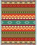 69x54 Southwest Western Striped Jacquard Throw Blanket - $49.95