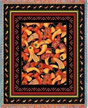 70x53 Chili Peppers Southwest Afghan Throw Blanket - $60.00