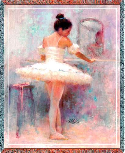 70x53 BALLERINA Ballet Dancer Tapestry Throw Blanket