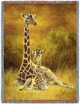 70x53 GIRAFFE Jungle Tropical Tapestry Throw Blanket - $60.00