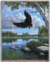 70x53 EAGLE Bird Wildlife Nature Tapestry Throw Blanket - $60.00