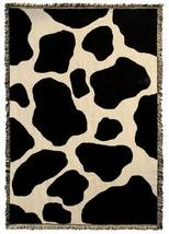69x48 COW Farm Skin Print Jacquard Throw Blanket  - $60.00