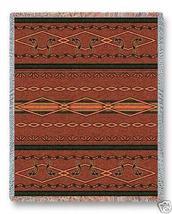 70x53 KOKOPELLI Dancer Southwest Afghan Throw Blanket - $60.00