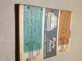 1953 1954 1955 Lincoln Körper Teile Katalog Katalog Manuell Final Edition - $42.68