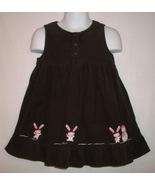 Gymboree Alpine Sweetie Girls Brown Ruffled Snow Bunny Corduroy Jumper Dress 2 T