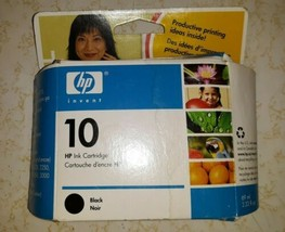 New Old Stock C4844A Hp 10 Black Ink Cartridge HEWLETT-PACKARD Sealed Package - $14.50