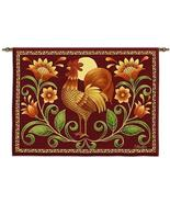 34x26 SUNRISE ROOSTER Farm Bird Tapestry Wall Hanging - $49.95