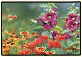 27x18 HUMMINGBIRD Bird Flower Floral Doormat Floormat   - $26.50