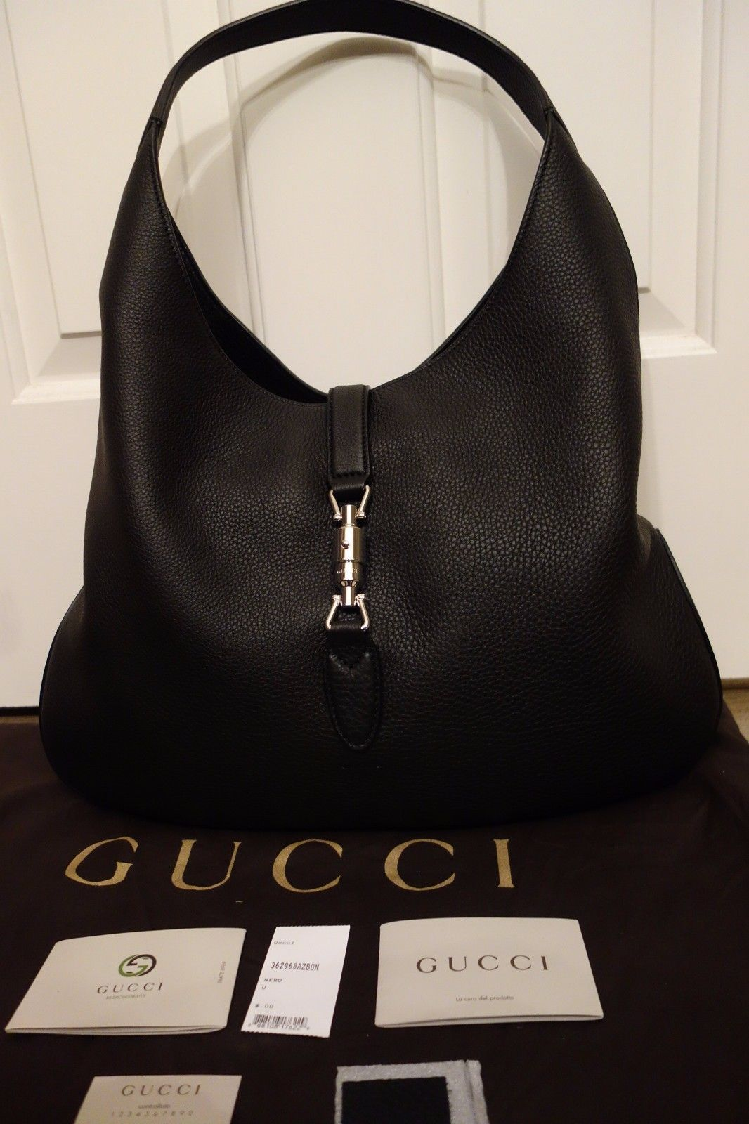 9523932655c58c 100% Authentic Gucci Soft Jackie Hobo in and 50 similar items