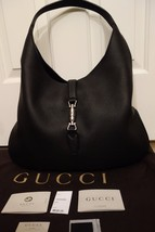 100% Authentic Gucci Soft Jackie Hobo in Black pebbled leather. MSRP US3... - $1,723.64