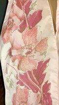 """St. Hilaire of Paris Pink Floral Scarf 61"""" x 7"""" Polyester Made in France - $17.86"""