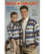 Red Heart Family Fashions To Knit Sweater Pattern Booklet No. 1426 - $9.98