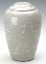 Grecian Gray Cultured Marble 190 Cubic Inches Funeral Cremation Urn For ... - $194.99