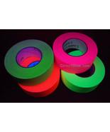 4 Pack 2 Inch UV Blacklight Reactive Fluorescent Gaffer Tape 4 Rolls x 5... - $109.95