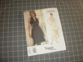 Vogue 1479 Bellville Sassoon Designer Original Sewing Pattern Halter Dre... - $24.95