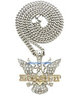 Dipset Necklace Crystal Rhinestone Pendant with 30 Inch Cuban Chain Dipl... - $19.99