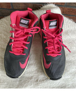 Nike Team Hustle D7 Shoes Size 4.5Y Pink Gray Lace Up Athletic Sneakers ... - $24.50
