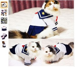 Cute Pet Cat Clothes For Small Cat Costumes Clothes Shirt Cat Dress Skir... - $8.99