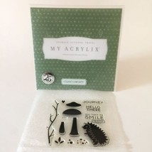 Close To My Heart Acrylix Stamp Set B1337 Hello There Porcupine Mushroom... - $9.89