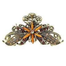Stylish Hair Accessory Hair Clips Crystal Retro Updo Hairpin Durable Hair Grip S - $11.91