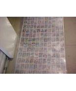 1985 topps uncut sheet with rookie kirby puckett - $99.99