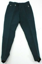Vintage Bogner Womens Green Wool Blend Ski Snow Pants Sz 30 Regular Stirrup - $48.23