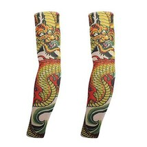 PANDA SUPERSTORE 1-Pair Dragon Temporary Tattoo Sun Sleeves Body Art Arm Stockin