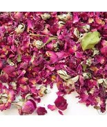 1 oz DRIED RED ROSE PETALS & BUDS Flowers Buds 4 Potpourri Mix - $3.95