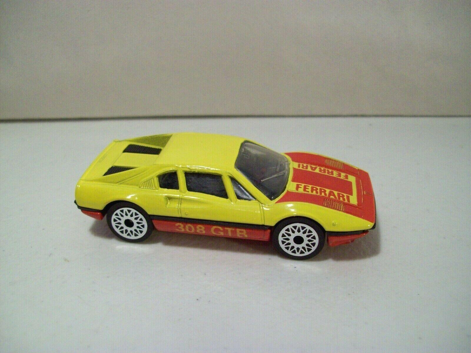 VINTAGE MATCHBOX FERRARI 308 GTB DIE-CAST CAR 1/55 SCALE YELLOW 1981 - $14.65