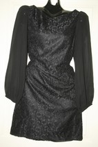 Eliza J New York Black Lace Dress With Long Sleeves Sz 12  Lined - $55.79