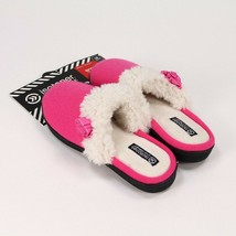 ISOTONER Signature Brushed Jersey Sweater Knit Slippers XL 9.5-10 Rasp Pink NWT - $9.99