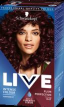 Schwarzkopf Live Hair Dye Intense Hair Colour Warm Purple Plum Perfection 47 - $14.89
