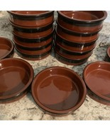 CERMER glazed brown red Flan Ramekins Dish clay bowls, SET OF 5 - $35.59