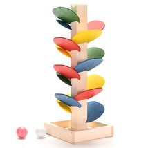 Educational Wooden Toys Building Blocks Tree Marble Ball Run Track Game ... - $7.69