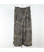 Women's Black DR2 Animal Print Pull On Style Wide Leg Crop Pants sz M - $28.06